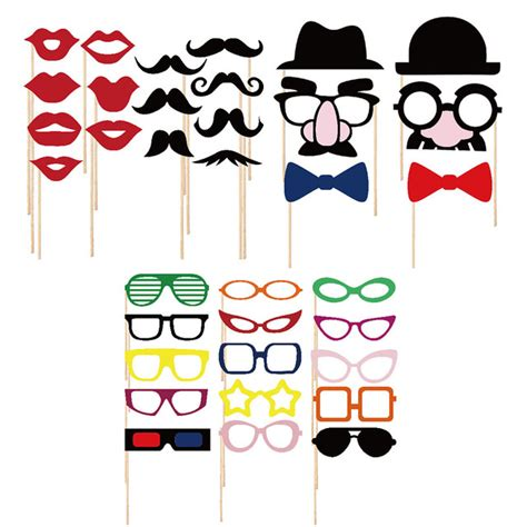 printable photo booth props on a stick photo booth props set of 40 mustache on a stick wedding