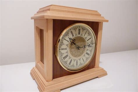 Handmade Wood Clocks - mantle clock wood mantle clock handmade clock clock mantel