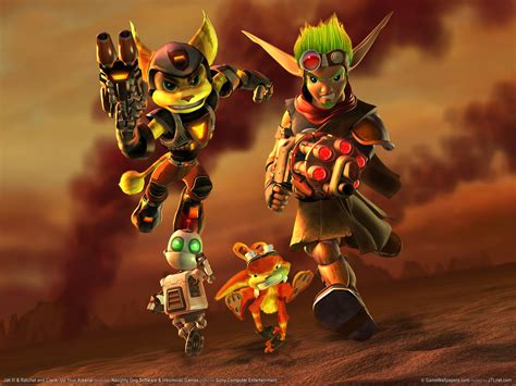 jak and daxter ratchet and clank funkyrach01 wallpaper