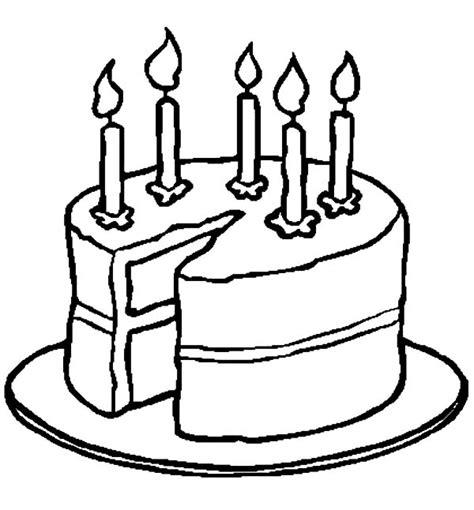 coloring page birthday cake no candles birthdays kindergarten holiday worksheets color the happy