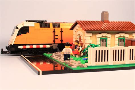 moc usonian style house lego town eurobricks forums lego moc watchman s house zusammengebaut