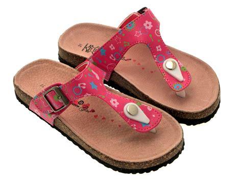 kid sandals flower summer sandals toe posts footbed flip