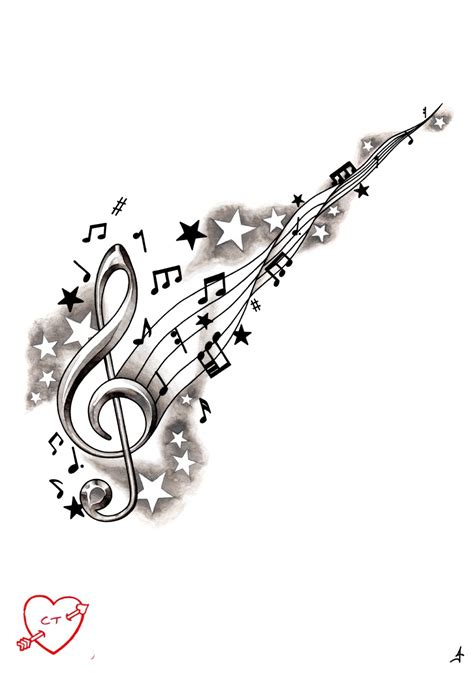 music star tattoo designs crisis treble clef