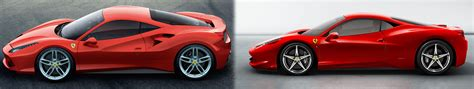 ferrari 458 vs 488 new 2015 ferrari 488 gtb vs 458 italia side by side