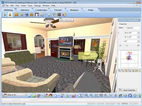 home interior design software hgtv home design software inserting interior objects youtube