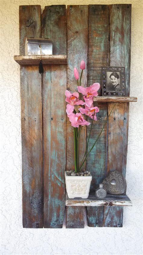 items similar to rustic country floating pallet shelf on etsy