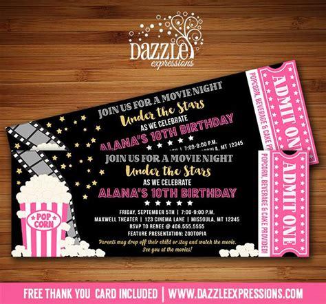 backyard movie night invitations best 25 movie party invitations ideas on pinterest