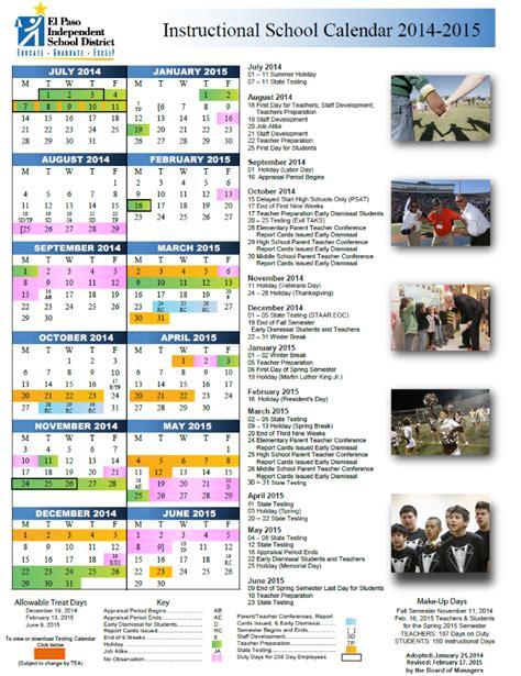 Episd Calendar 2014 2015 Episd Calendar Milam Elementary School