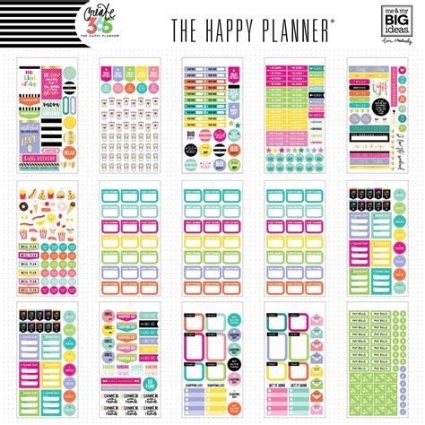create 365 the happy planner sticker value pack