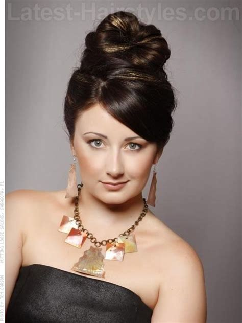 pic of black side swept bangs and bun hairstyle 1000 images about updo ideas on pinterest french twists