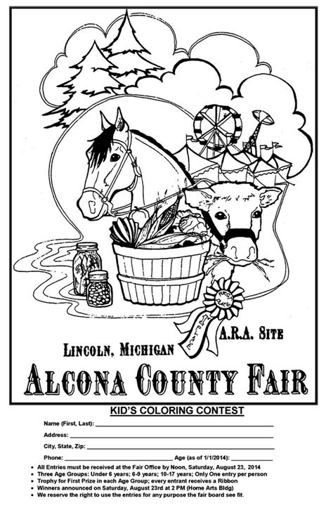 free coloring pages kids coloring contest alcona county