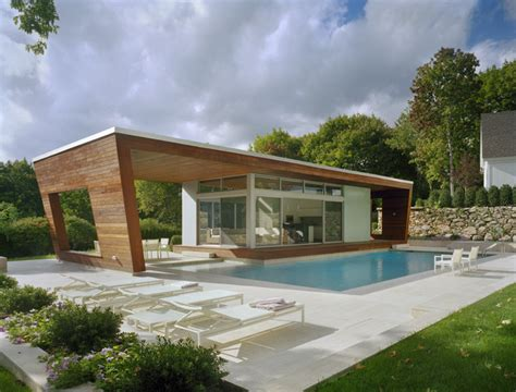 Small Pool House Designs | outstanding swimming pool house design by hariri hariri