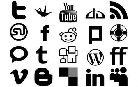 Lisy Top Putih Hitam Nl minimaal social media icons pack vector gratis