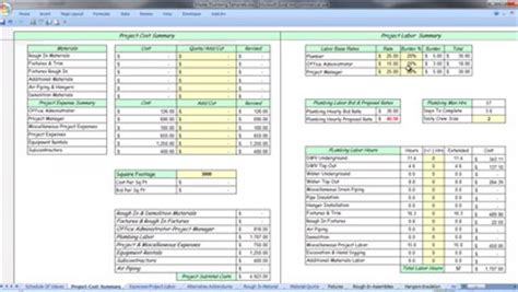 Plumbing Estimating Software Free by Home Construction Schedule Template