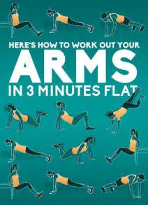 how to work out at home an easy three minute workout for your arms 4 pics
