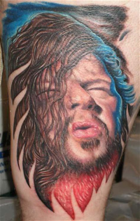 dimebag darrell tattoos dimebag darrell tribute by nate beavers tattoonow
