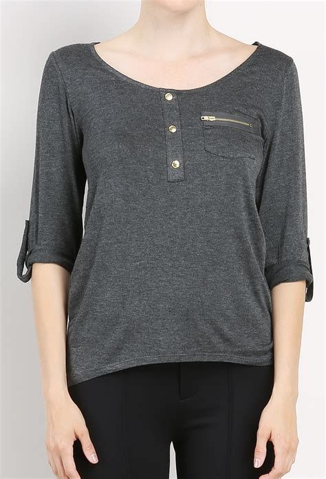 Pocket Casual Top by Zipper Pocket Casual Top Shop Early 10