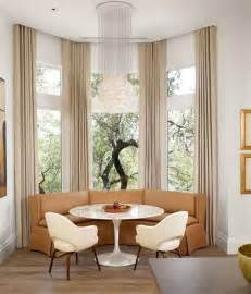Window seat and built in bookcases oval kitchen nook table ideas