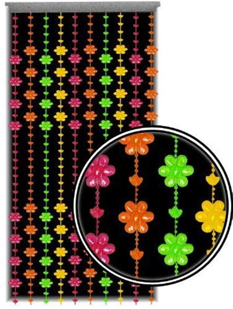 Standart 1 Mio Bead beaded curtain blacklight reactive multi color flower