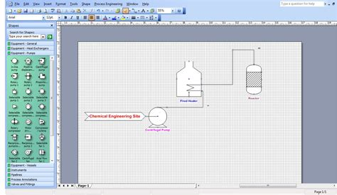 microsoft visio diagrams ms visio for chemical engineers chemical engineering site