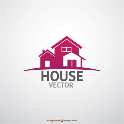 house logo design vector real state logotype template vector free download