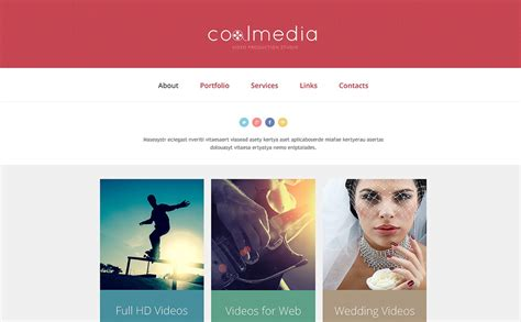 website templates for videographers videographer responsive website template 48030