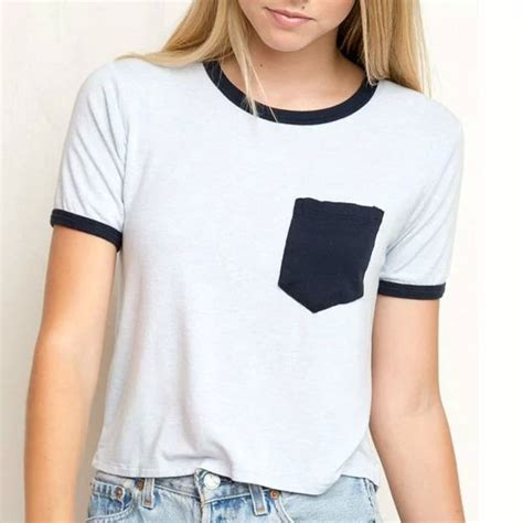 Blouse Lengan 3 4 Import 30875 White Harajuku Summer Oversize Top bohocotol white t shirt 2016 summer style t shirt print pocket harajuku o neck
