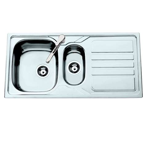 Stainless Steel Kitchen Sinks Uk Clearwater Okio 1 5 Bowl Stainless Steel Sink Kitchen Sinks Taps