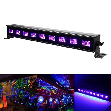 high power 9ledx3w led bar black light uv purple led wall