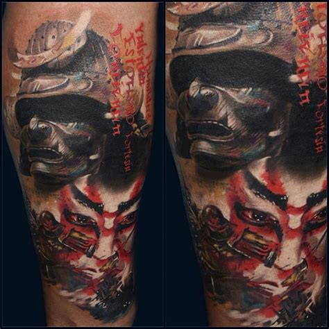 tribal samurai tattoo samurai forearm best design ideas