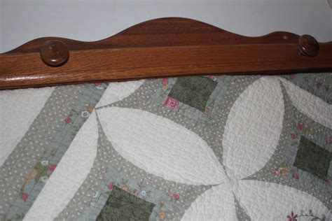 Quilt Racks For The Wall by Quilt Rack Wall Hanging Oak