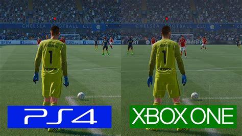 One Graphic 17 fifa 17 ps4 vs one graphics comparison