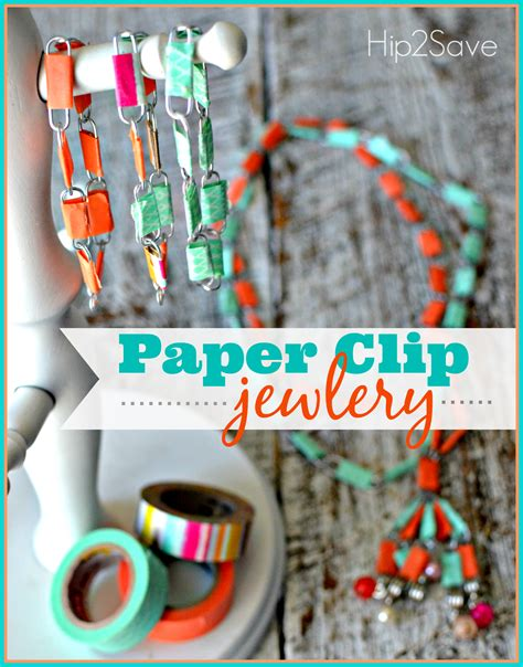 Paper Clip Crafts - paper clip jewelry summer craft hip2save
