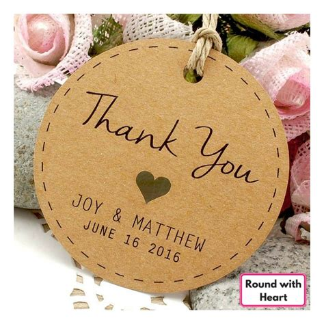 Wedding Gift Thank You by Personalized Brown Kraft Wedding Favor Thank You Gift
