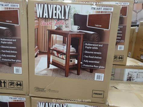 universal furniture waverly accent wedge table