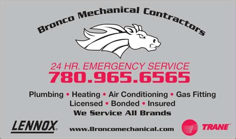 Bronco Plumbing And Heating by Bronco Mechanical Contractors Edmonton Ab 13011 107 Nw Canpages