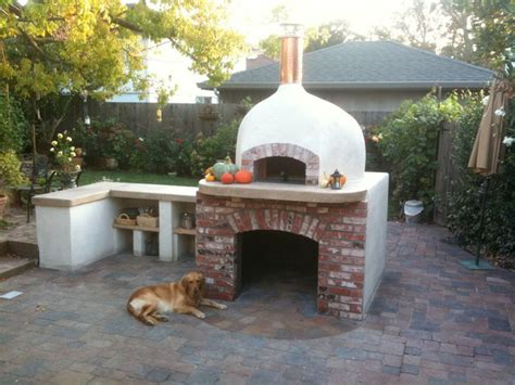 backyard wood fired pizza oven outdoor dome roof wood fired pizza ovens eclectic