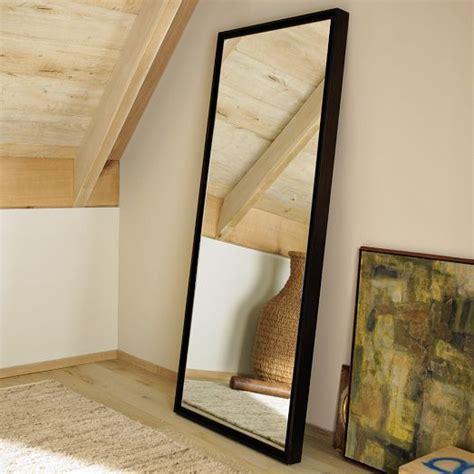 floating wood floor mirror west elm inspiration for