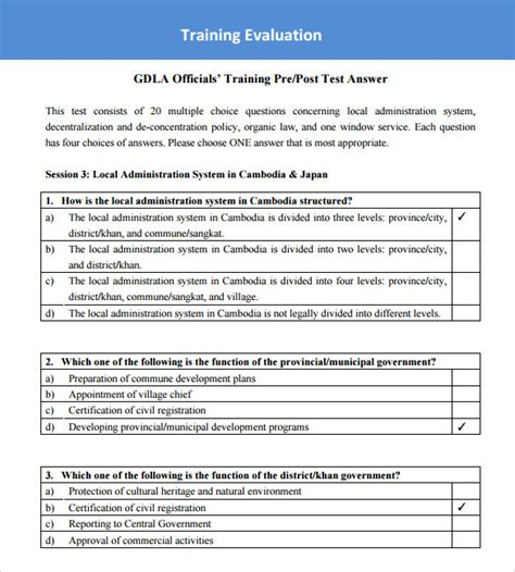 Class Evaluation Form Template Sle Survey 13 Exle Format