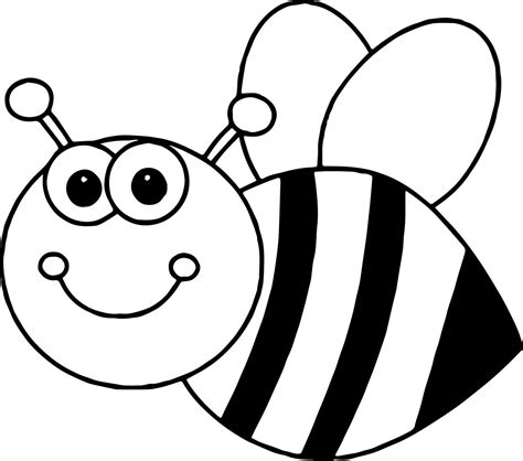Cute Bee Coloring Pages   coloringsuite.com