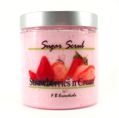 Handmade Scrub - strawberries n sugar scrub 8 oz f b