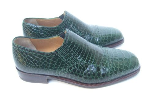 genuine alligator s green dress shoes made in italy us