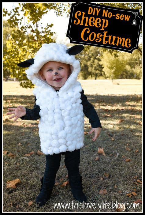 Handmade Sheep Costume - this lovely diy no sew sheep costume diy