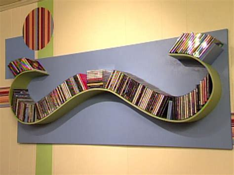 diy cd storage build a wave shaped cd rack hgtv