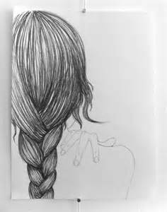 sketches of hair braid drawing woman hair sketch braid drawing
