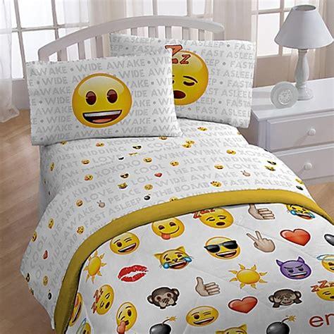 emoji sheet set bed bath beyond