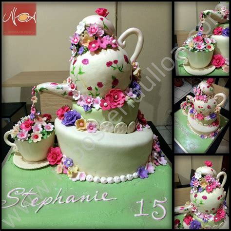 decoracion de pasteles para quinceañeras pastel tetera y flores reposter 237 a y pasteler 237 a