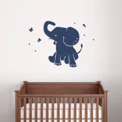 pics photos baby elephant wall sticker sticke butterfly kisses childrens nursery word art decals
