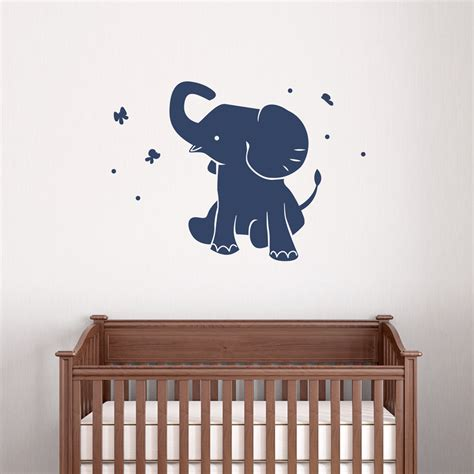 wall decals for baby boy nursery baby elephant wall decal