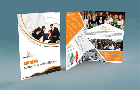 two fold brochure template psd free corporate brochure templates inspirational free bi